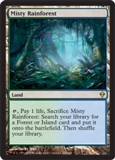 Magic the Gathering Zendikar Single Misty Rainforest - SLIGHT PLAY (SP)