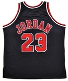 Michael Jordan Autographed Chicago Bulls Black Authentic Basketball Jersey (UDA COA)