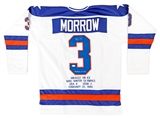 Ken Morrow Autographed Team USA Miracle On Ice Stat Jersey w/Inscription (JSA)