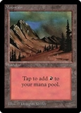 Magic the Gathering Beta Single Mountain (Ver 1) - SLIGHT PLAY (SP)