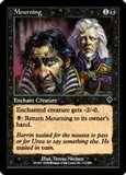 Magic the Gathering Invasion Single Mourning FOIL