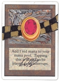 Magic the Gathering Unlimited Single Mox Ruby Artist Signed & Altered SLIGHT PLAY (SP)