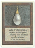 Magic the Gathering Unlimited Single Mox Pearl - MODERATE PLAY (MP)