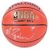 Mitch Richmond Autographed Sacramento Kings Spalding Basketball (JSA)