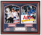 Mark Messier Autographed NY Rangers Framed 8X10 (Steiner)