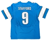 Matthew Stafford Autographed Detroit Lions Blue Nike On Field Jersey (JSA)