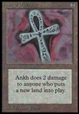 Magic the Gathering Alpha Single Ankh of Mishra LIGHT PLAY (NM)