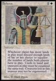 Magic the Gathering Alpha Single Balance UNPLAYED (NM/MT)