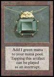 Magic the Gathering Beta Single Mox Emerald HEAVY PLAY