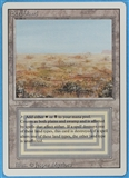 Magic the Gathering 3rd Ed (Revised) Single Scrubland - SLIGHT PLAY (SP)