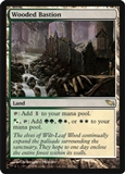Magic the Gathering Shadowmoor Single Wooded Bastion LIGHT PLAY (NM)