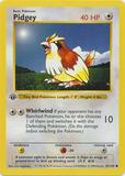 Pokemon Base Set 1st Ed. Single Pidgey 57 - SLIGHT PLAY (SP)