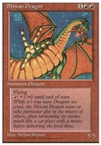 Magic the Gathering 4th Edition Single Shivan Dragon - SLIGHT PLAY (SP)