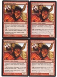 Magic the Gathering Theros PLAYSET Firedrinker Satyr X4 - NEAR MINT (NM)