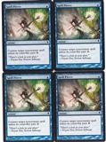 Magic the Gathering Zendikar PLAYSET Spell Pierce X4 - NEAR MINT (NM)