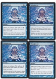 Magic the Gathering Mirrodin PLAYSET Thoughtcast X4 - NEAR MINT (NM)