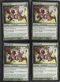 Magic the Gathering Shards of Alara PLAYSET Wild Nacatl X4 - NEAR MINT (NM)