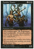 Magic the Gathering 5th Edition Single Zombie Master - MODERATE PLAY (MP)