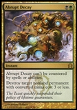 Magic the Gathering Return to Ravnica Single Abrupt Decay - MODERATE PLAY (MP)