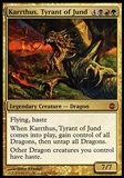 Magic the Gathering Alara Reborn Single Karrthus, Tyrant of Jund - MODERATE PLAY (MP)