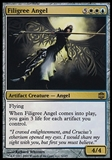 Magic the Gathering Alara Reborn Single Filigree Angel FOIL - MODERATE PLAY (MP)