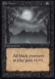 Magic the Gathering Alpha Single Bad Moon - MODERATE PLAY (MP)