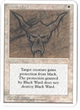 Magic the Gathering ALPHA CUT 4th Edition Single Black Ward - NEAR MINT (NM)