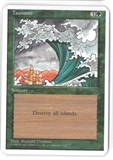 Magic the Gathering ALPHA CUT 4th Edition Single Tsunami - SLIGHT PLAY (SP)
