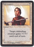 Magic the Gathering Alpha Single Righteousness - MODERATE PLAY (MP)