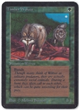 Magic the Gathering Alpha Single Timber Wolves - SLIGHT PLAY (SP)
