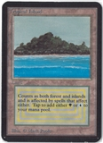 Magic the Gathering Alpha Single Tropical Island - SLIGHT PLAY (SP)