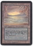 Magic the Gathering Alpha Single Underground Sea - MODERATE PLAY (MP)