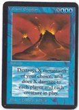Magic the Gathering Alpha Single Volcanic Eruption - SLIGHT PLAY (SP)