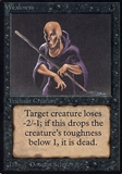 Magic the Gathering Alpha Single Weakness - NEAR MINT (NM)