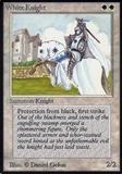 Magic the Gathering Alpha Single White Knight - HEAVY PLAY (HP)