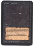 Magic the Gathering Alpha Single Word of Command - MODERATE PLAY (MP)