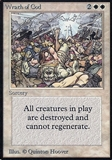 Magic the Gathering Alpha Single Wrath of God - HEAVY PLAY (HP)