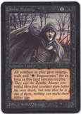 Magic the Gathering Alpha Single Zombie Master - MODERATE PLAY (MP)