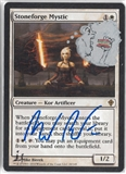 Magic the Gathering Worldwake Single Stoneforge Mystic (Artist Signed and Altered - Hamburger)