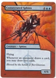 Magic the Gathering Mirrodin Besieged Single Consecrated Sphinx ALTERED - SLIGHT PLAY