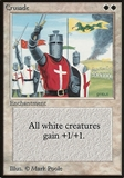 Magic the Gathering Beta Single Crusade - MODERATE PLAY (MP)