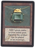 Magic the Gathering Beta Single Mox Emerald (SIGNED BY ARTIST) - NEAR MINT / SLIGHT PLAY (NM/SP)