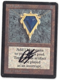 Magic the Gathering Beta Single Mox Sapphire (SIGNED BY ARTIST) - MODERATE PLAY (MP)
