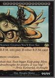 Magic the Gathering Unglued Single B.F.M. (Big Furry Monster) (RIGHT) - MODERATE PLAY