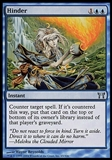 Magic the Gathering Champions of Kamigawa Single Hinder FOIL - SLIGHT PLAY (SP)
