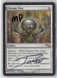 Magic the Gathering Mirrodin Single Chrome Mox SIGNED BY ARTIST - MODERATE PLAY (MP)