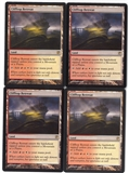 Magic the Gathering Innistrad PLAYSET Clifftop Retreat X4 - NEAR MINT (NM)