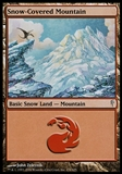 Magic the Gathering Coldsnap Single Snow-covered Mountain FOIL - SLIGHTLY PLAYED