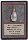 Magic the Gathering Beta Single Mox Pearl - CRIMPED - SLIGHT PLAY (SP)