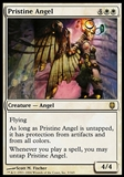 Magic the Gathering Darksteel Single Pristine Angel FOIL - MODERATE PLAY (MP)